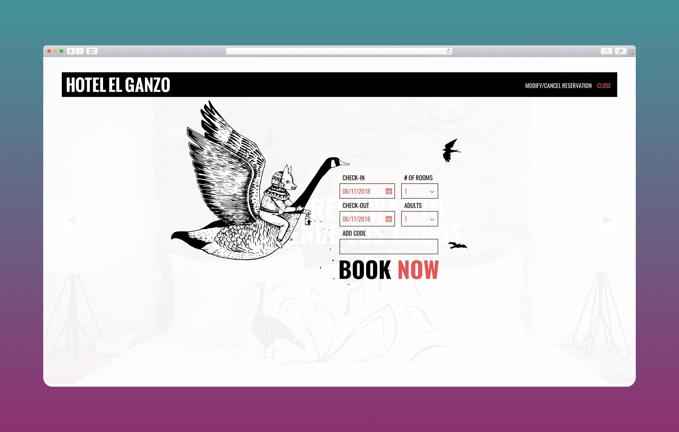 El Ganzo – Art Hotel Web Design