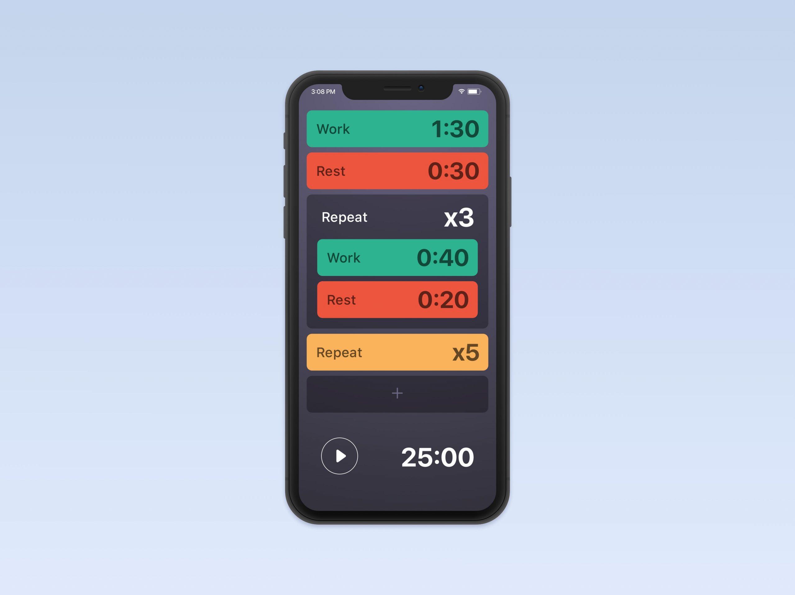BitTimer tweaks – ios app design